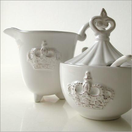 シュガーポット クリーマー 陶器のシュガー&クリーマー