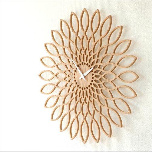 掛け時計 木製 おしゃれ デザイン インテリア ウォールクロック アートクロック A