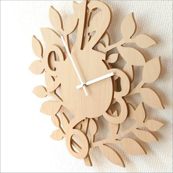 掛け時計 木製 おしゃれ デザイン モダン インテリア アートクロック B