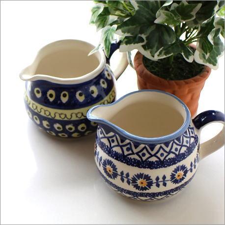 ポーランド陶器のミルクピッチャー2タイプ