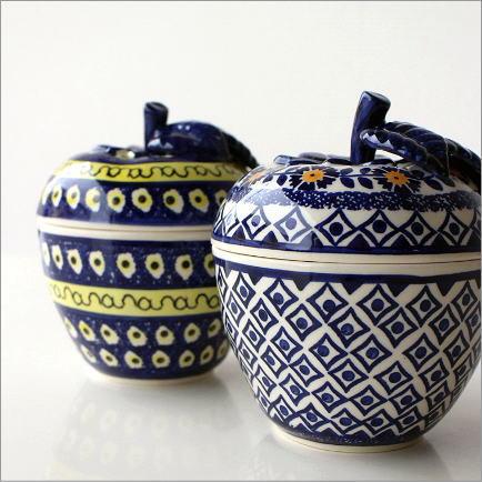 ポーランド陶器のりんごポットA2タイプ