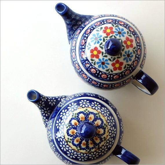 ポーランド陶器のティーポット 2タイプ