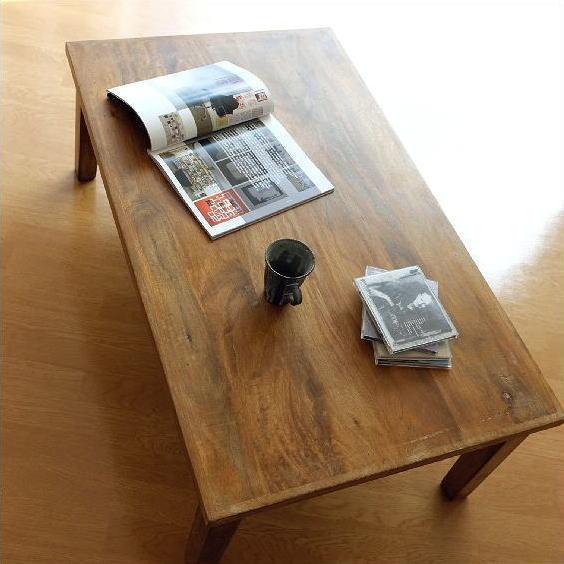 ローテーブル 天然木製 無垢材 リビングテーブル センターテーブル マンゴーウッド ローテーブル【送料無料】