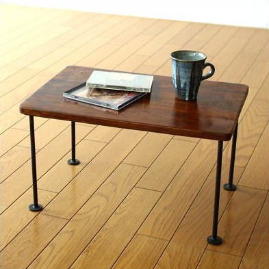 ローテーブル ミニテーブル アイアン 天然木製 コンパクトテーブル シーシャムスモールテーブル
