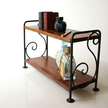 棚 シェルフ 木製 飾り棚 アイアン スパイスラック シンプルミニラック B