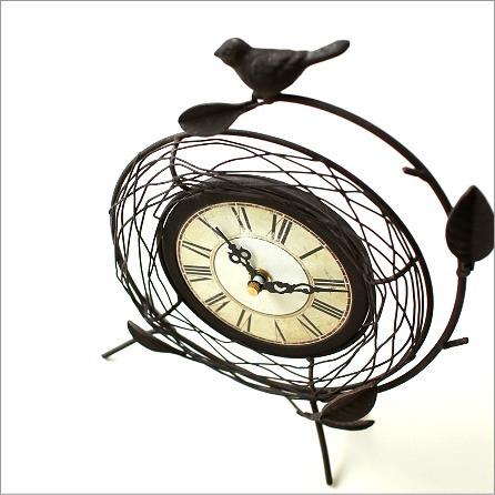 置き時計 レトロ おしゃれ アンティークな置時計 B