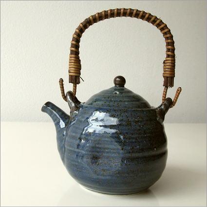 土瓶 急須 美濃焼 おしゃれ 陶器 日本製 青万葉土瓶