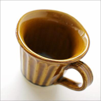 陶器 マグカップ キャラメル