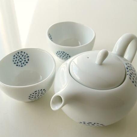 ティーポット 急須 セット 粒丸紋ポット煎茶碗付き
