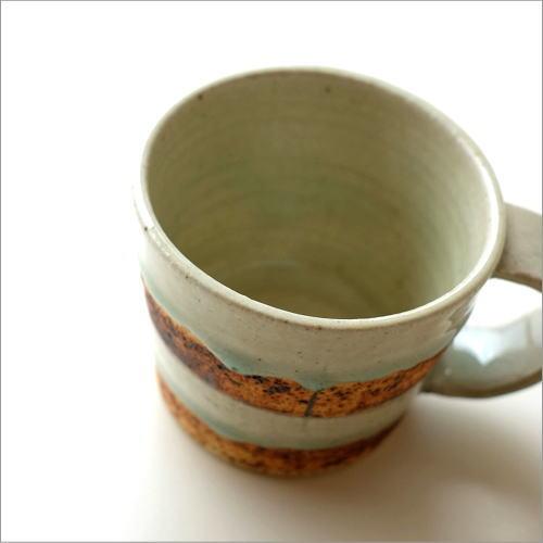 マグカップ 陶器 おしゃれ 大きめ 青磁コーヒーマグカップ
