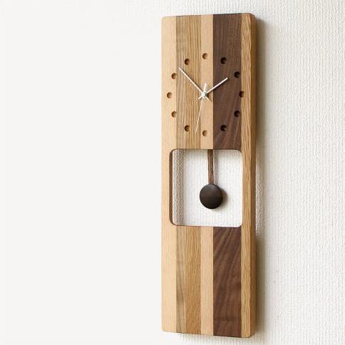 掛け時計 木製 ナチュラルインテリア ウッドウォールクロック オルロージュA【送料無料】