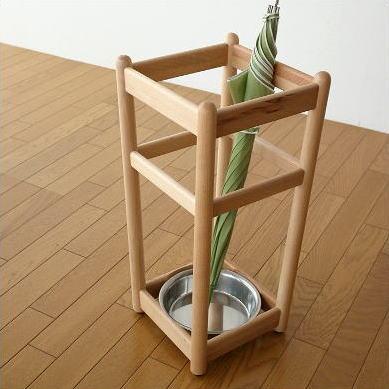 傘立て 木製 おしゃれ シンプル インテリア ナチュラルウッドの傘たて ビーチ