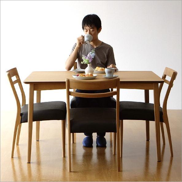 ダイニングテーブル5点セット 幅120 天然木 軽量 ダイニングセット ナチュラル コンパクト シンプル カフェ ナチュラルウッドのダイニング5点セット【送料無料】