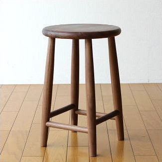 スツール 木製 天然木 丸椅子 おしゃれ 無垢 ナチュラルウッドのスツール ウォールナット【送料無料】