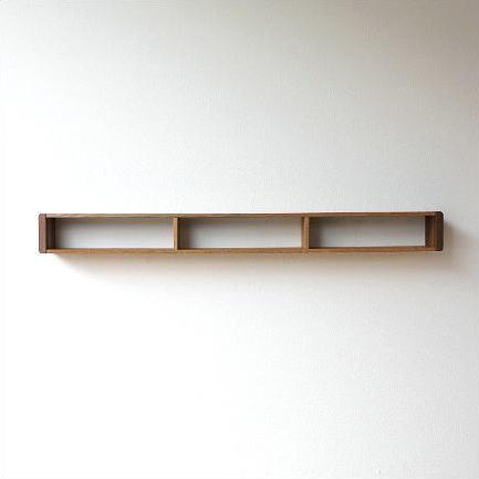 ウォールシェルフ 木製 壁掛け 飾り棚 小物入れ 天然木 おしゃれ ナチュラル スリムなウォール棚 L