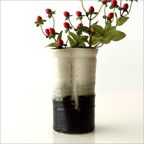 花瓶 和風 瀬戸焼 おしゃれ フラワーベース 和陶器花入 結晶変形