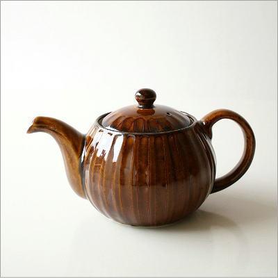 ティーポット 陶器 しのぎポット