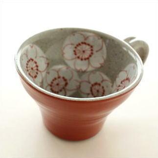 陶器 さくらスープカップ A