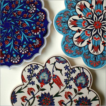 トルコの陶器プレート