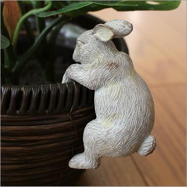 うさぎ 引っ掛けオブジェ 雑貨 置物 インテリア かわいい ラビット やんちゃな子ウサギ