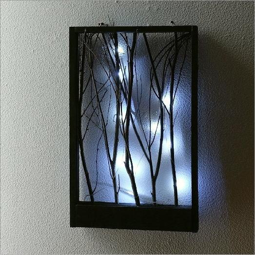 LED付き小枝のフレーム ブラック