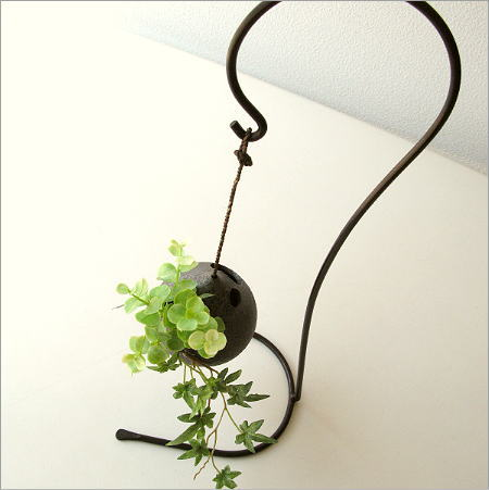 花器 一輪挿し 陶器 お洒落 信楽焼 吊り下げしずく型花入れ