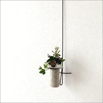 花瓶 フラワーベース 壁掛けロングハンギング