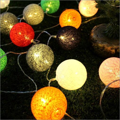 LEDボールランプ カラフルニット