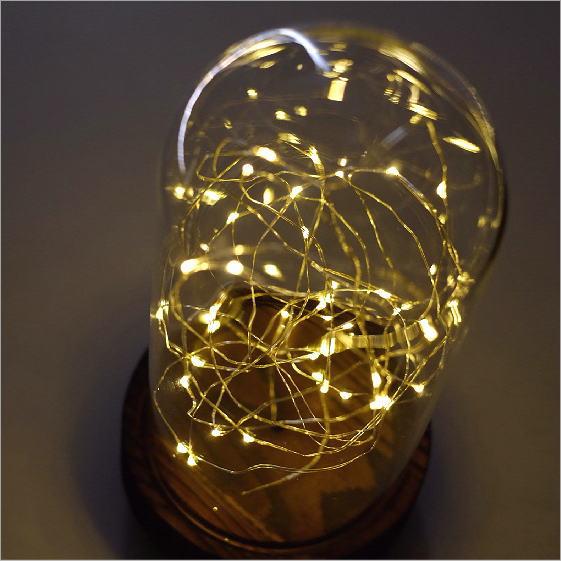 LEDガラスドームライト電池付