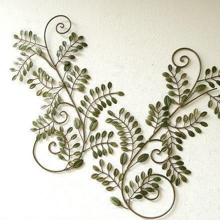 アイアン壁飾り グリーンリーフ B 2枚セット