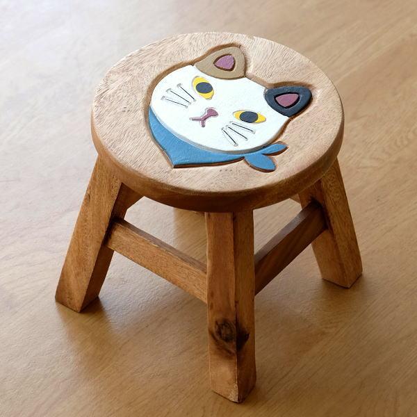 子供椅子 スカーフ白ネコさん