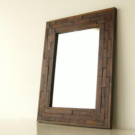 壁掛け組み木ミラー