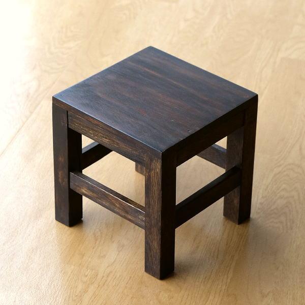 スツール 木製 子供椅子 ミニスツール 花台 スクエアスツール