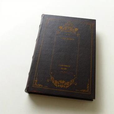 本型小物入れ ブック型収納ボックス 洋書 宝箱 シークレットボックス レトロなブックボックス ラージ