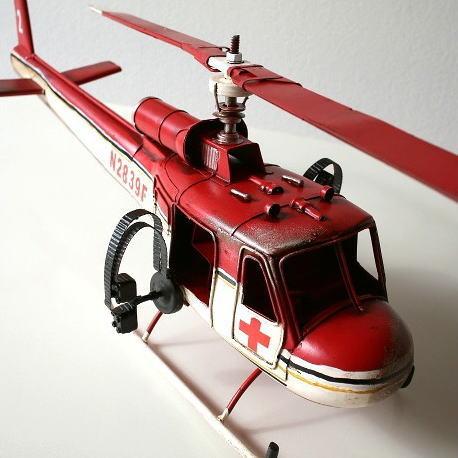 ブリキおもちゃ アメリカン雑貨 アンティーク レトロ雑貨 置物 インテリアオブジェ American Nostalgia 救護ヘリコプター【送料無料】
