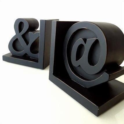 本立て ブックスタンド CDスタンド おしゃれ 文字 記号 デザイン ブックスタンド ブックエンド&@
