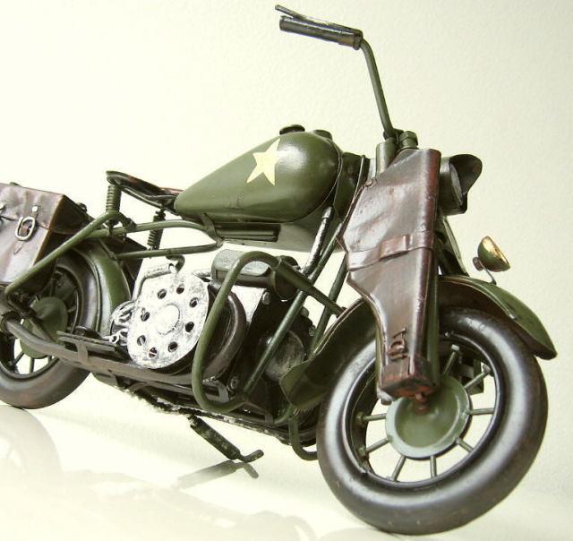 ブリキおもちゃ アメリカン雑貨 アンティーク レトロ雑貨 置物 インテリアオブジェ American Nostalgia バイクグリーン