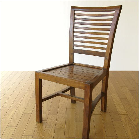 ダイニングチェア 無垢 木製 デスクチェア チーク椅子 天然木 シンプル モダン チークチェアー【送料無料】