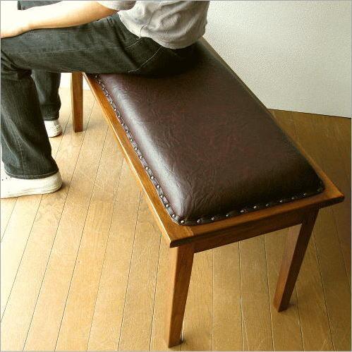 木製ベンチ 玄関 無垢 クッション 長椅子 アジアン家具 チークベンチ100【送料無料】