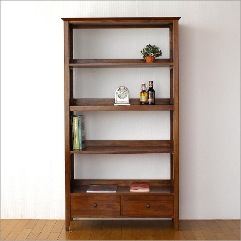 本棚 無垢 書棚 木製 本収納 飾り棚 チークハイシェルフ【開梱設置送料無料】