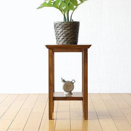 花台 花瓶台 フラワースタンド 無垢材 木製 観葉植物 玄関 飾台 チーク花台40