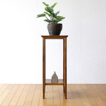 花台 花瓶台 フラワースタンド 無垢材 木製 観葉植物 玄関 飾台 チーク花台70【送料無料】