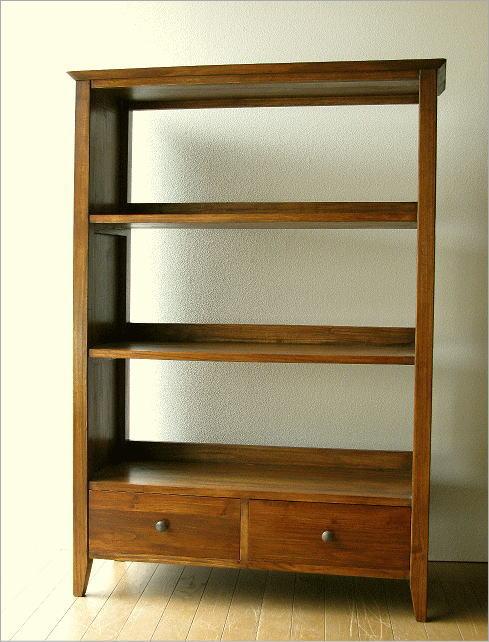本棚 書棚 木製 無垢 シェルフ ディスプレイラック 飾り棚 チークフリーラックH130【開梱設置送料無料】