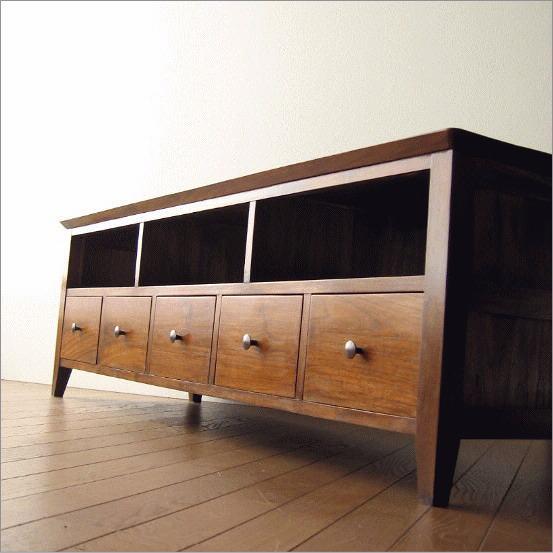 テレビボード 無垢 テレビ台 チーク家具 チークローボード150【送料無料】