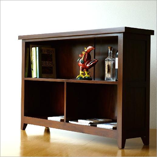 本棚 シェルフ 無垢 書棚 サイドボード 天然木 飾り棚 ディスプレイラック マホガニーフリーラック120【送料無料】