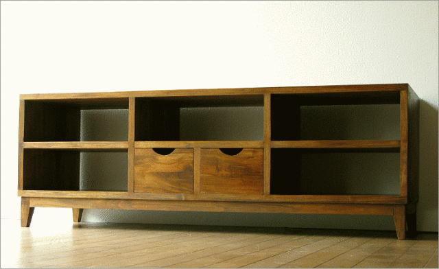テレビ台 無垢 AVラック オープン棚 チーク家具 TWローボード150B【送料無料】
