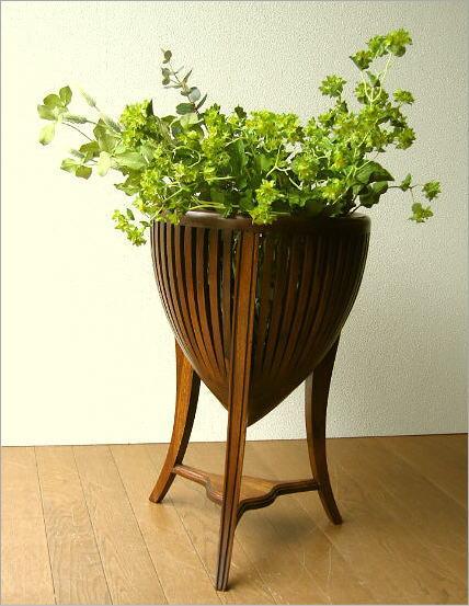 花台 木製 観葉植物 フラワーラック アジアン家具 チークフラワースタンドS【送料無料】