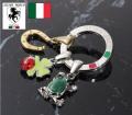 イタリア製ラッキーチャームキーリング