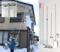 多機能雪降ろし&雪庇落とし&凍雪除去用ヘラセット 6.5mタイプ