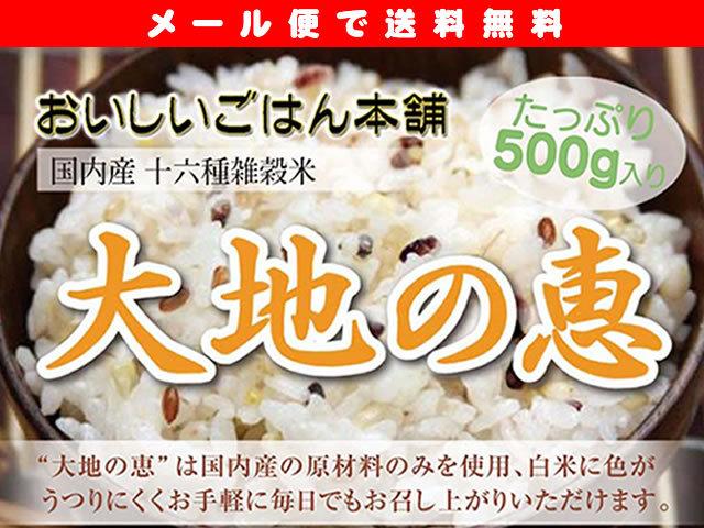 国内産十六雑穀米 「大地の恵」500g